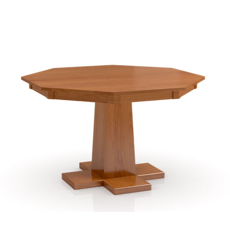 Octagonal Build Your Own Studio Pedestal table with large base by Simply Amish at Creative Classics Furniture in Alexandria VA near Arlington VA and Washington DC