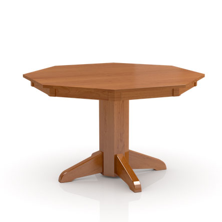 Octagonal Build Your Own Studio Pedestal table by Simply Amish at Creative Classics Furniture in Alexandria VA near Arlington VA and Washington DC