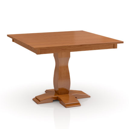 Square Build Your Own Studio Pedestal Table with large base by Simply Amish at Creative Classics Furniture in Alexandria VA near Arlington VA and Washington DC