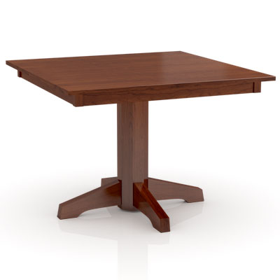 Square Build Your Own Studio Pedestal Table by Simply Amish at Creative Classics Furniture in Alexandria VA near Arlington VA and Washington DC