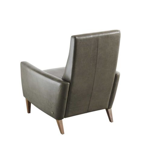 Back view of Vida Recliner in gray leather by American Leather at Creative Classics Furniture in Alexandria VA near Washington DC and Arlington VA