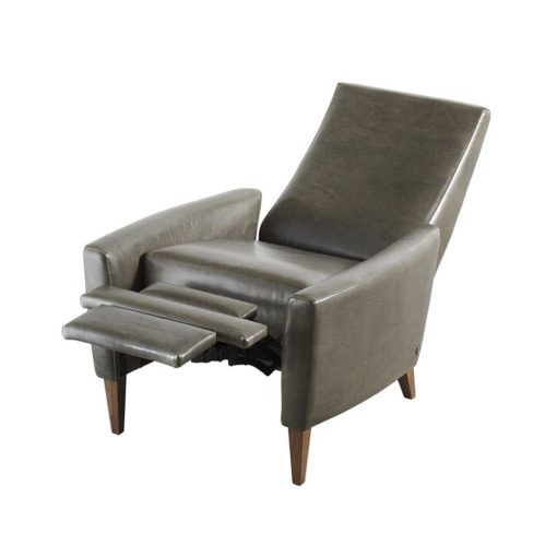 Reclining view of Vida Recliner in gray leather by American Leather at Creative Classics Furniture in Alexandria VA near Washington DC and Arlington VA
