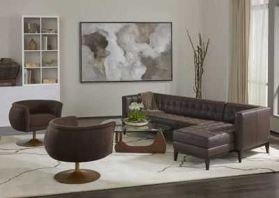 image of brown and tan living room with natural accents