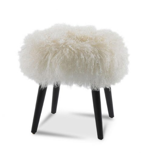 Wilson Mongolian Wool Leather Ottoman by Precedent Furniture at Creative Classics Furniture in Alexandria VA near Washington DC and Arlington VA
