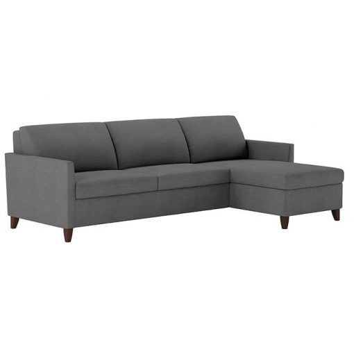Harris Comfort Sleeper Sofa with chaise in gray fabric by American Leather at Creative Classics Furniture in Alexandria VA near Arlington VA and Washington DC