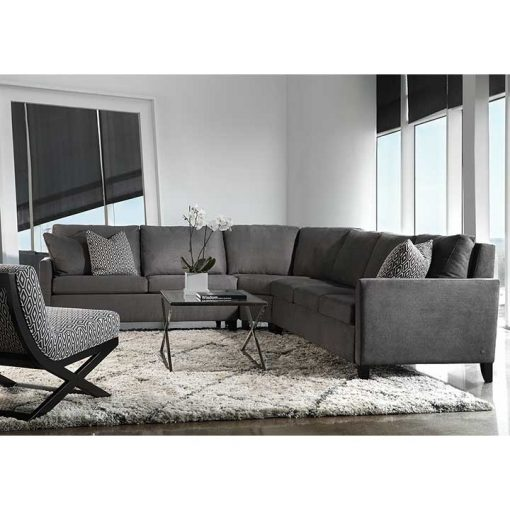 Living room scene of Harris Comfort Sleeper Sectional in gray fabric by American Leather at Creative Classics Furniture in Alexandria VA near Arlington VA and Washington DC