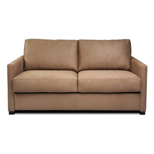 Front view of Pearson Comfort Sleeper Sofa in brown fabric by American Leather at Creative Classics Furniture in Alexandria VA near Arlington VA and Washington DC