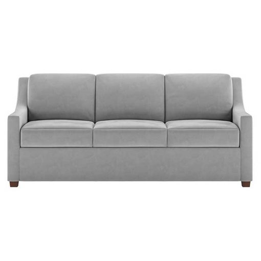 Front view of Perry Comfort Sleeper Sofa in light gray by American Leather at Creative Classics Furniture in Alexandria VA near Washington DC and Arlington VA