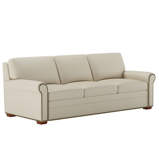 Gaines Comfort Sleeper Sofa in cream fabric with decorative nailheads by American Leather at Creative Classics Furniture in Alexandria VA near Arlington VA and Washington DC
