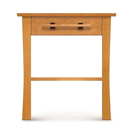 Front view of Solid wood Monterey One Drawer Nightstand in natural cherry by Copeland Furniture at Creative Classics in Alexandria VA near Arlington VA and Washington DC