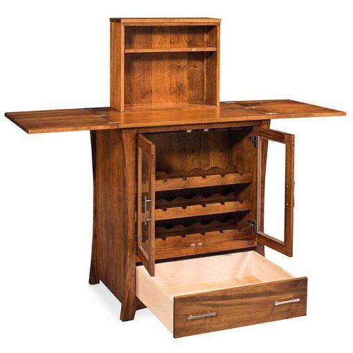 Open view of Loft Mini Bar Cabinet by Simply Amish Furnture at Creative Classics Furniture in Alexandria VA near Washington DC and Arlington VA