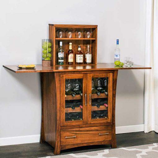 Full view of Loft Mini Bar Cabinet by Simply Amish Furnture at Creative Classics Furniture in Alexandria VA near Washington DC and Arlington VA