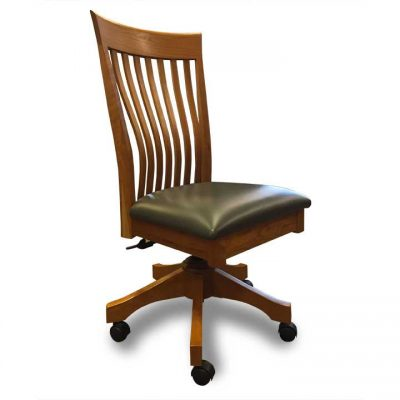 Milton Office Chair with leather seat by Canal Dover at Creative Classics Furniture in Alexandria VA