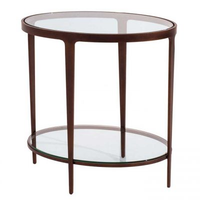 Glass and metal Ellipse End Table by Charleston Forge at Creative Classics Furniture in Alexandria VA near Washington DC and Arlington VA