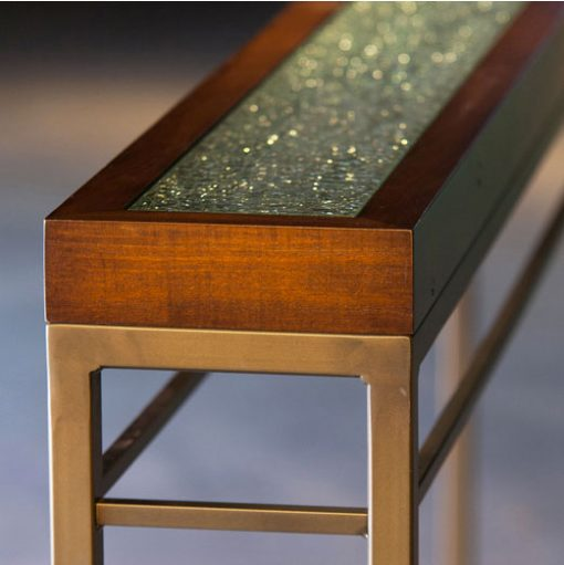 Detail of Facet Glass and Wood Top Cooper Console Table by Charleston Forge at Creative Classics Furniture in Alexandria VA near Washington DC and Arlington VA