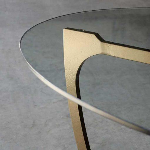 Detail of Glass and metal Fontana Coffee Table by Charleston Forge at Creative Classics Furniture in Alexandria VA near Washington DC and Arlington VA