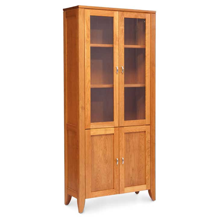 Justine Bookcase With Glass Amp Wood Doors Creative Classics