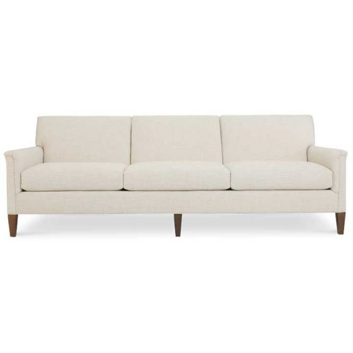Digby Sofa Ivory Fabric in Two Sizes by CR Laine Furniture Front View at Creative Classics Furniture in Alexandria Va near Arlington VA and Washington DC