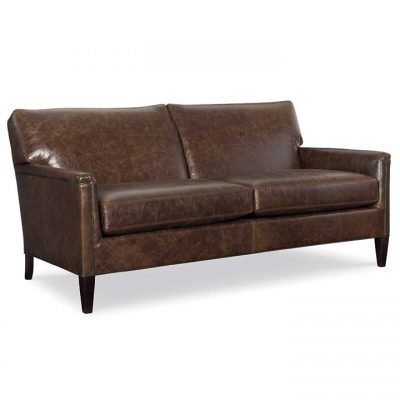 Digby Condo Sized Sofa in brown leather by CR Laine Furniture at Creative Classics Furniture in Alexandria VA near Washington DC and Arlington VA