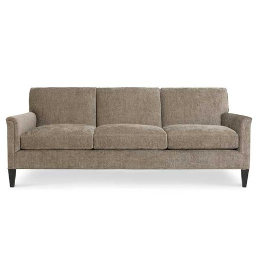 Front view of Digby Sofa in Two Sizes in light brown fabric by CR Laine Furniture at Creative Classics Furniture in Alexandria VA near Washington DC and Arlington VA