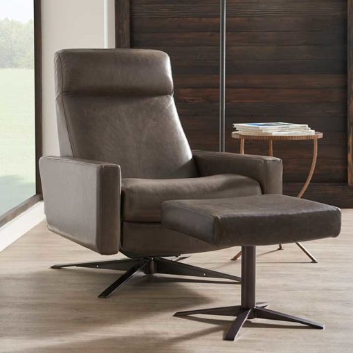 Cloud Comfort Air™ Chair with Ottoman by American Leather Living Room Scene at Creative Classics Furniture in Alexandria VA near Arlington VA and Washington DC