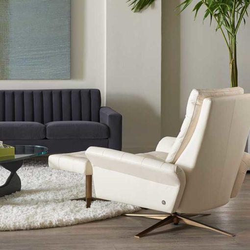 Pileus Comfort Air™ Chair by American Leather Living Room Scene at Creative Classics Furniture in Alexandria VA near Arlington VA and Washington DC