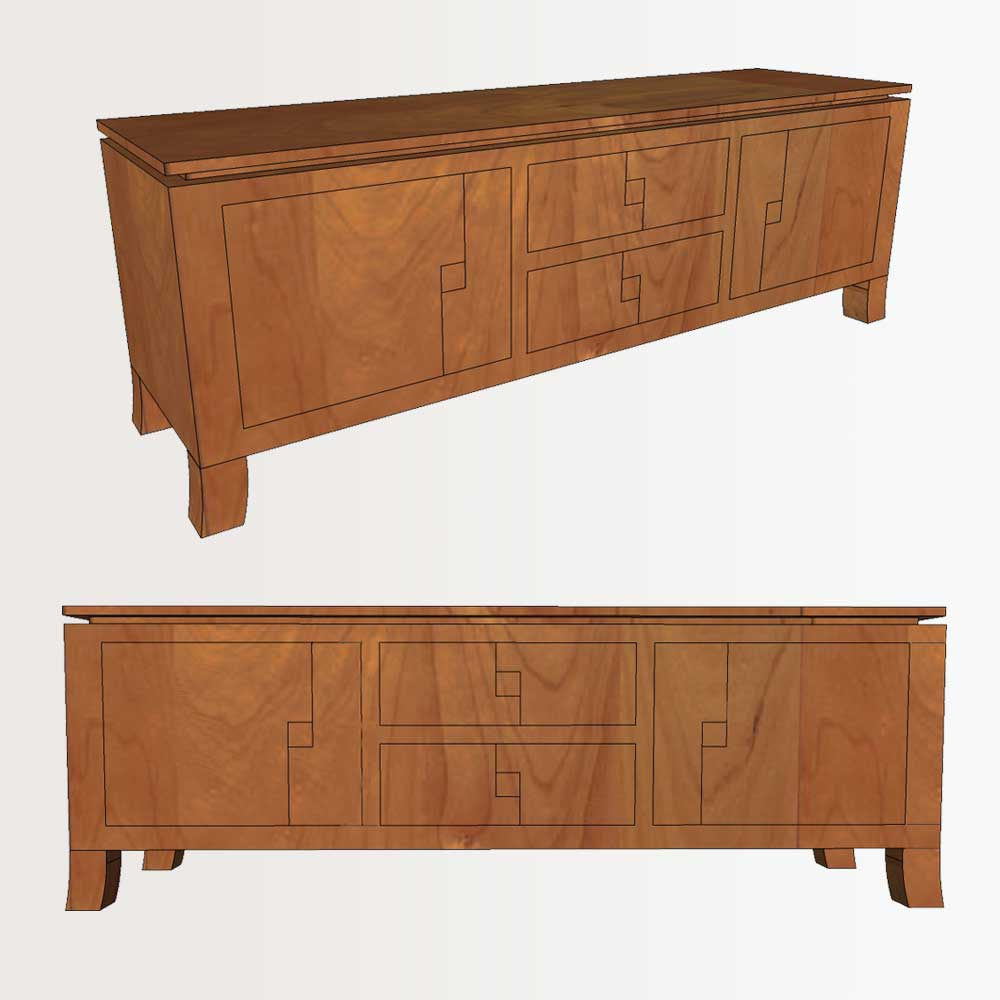 Computer rendering of customization for Creative Classics Furniture in Alexandria, VA