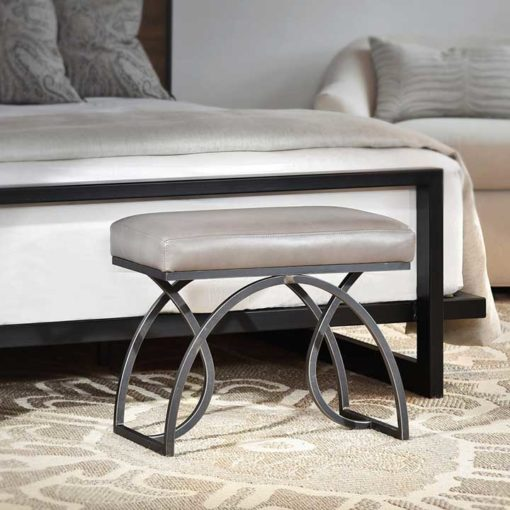 Bedroom scene with Monarch Small Bench by Charleston Forge at Creative Classics Furniture in Alexandria VA near Arlington VA and Washington DC