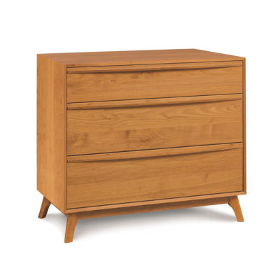 Solid wood Catalina three drawer dresser in natural cherry by Copeland Furniture at Creative Classics Furniture in Alexandria VA near Northern VA and Washington DC