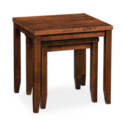 Parkdale hardwood nesting table set by Simply Amish Furniture at Creative Classics Furniture in Alexandria VA near Washington DC and Arlington VA