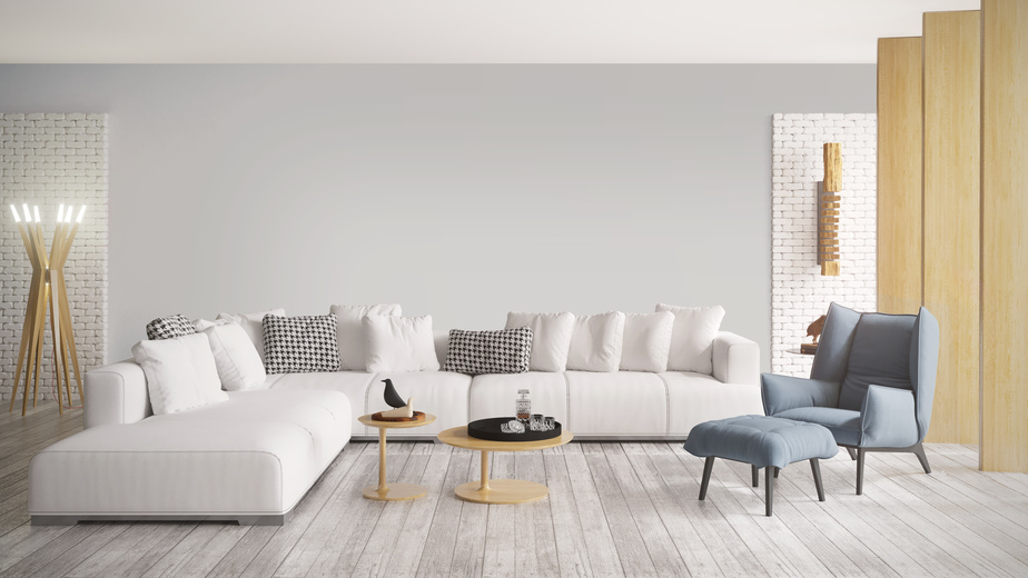 Living room scene with neutral colors to illustrate Four Tips for Using Color in Your Rooms
