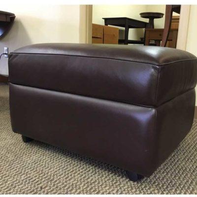 Reese Leather Storage Ottoman