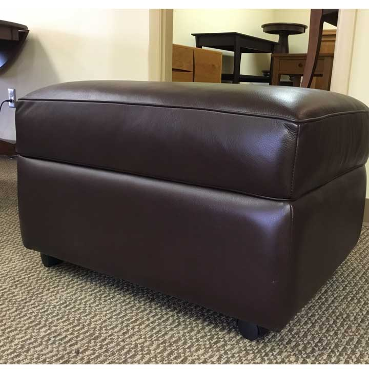 Reese Leather Storage Ottoman Creative Classics