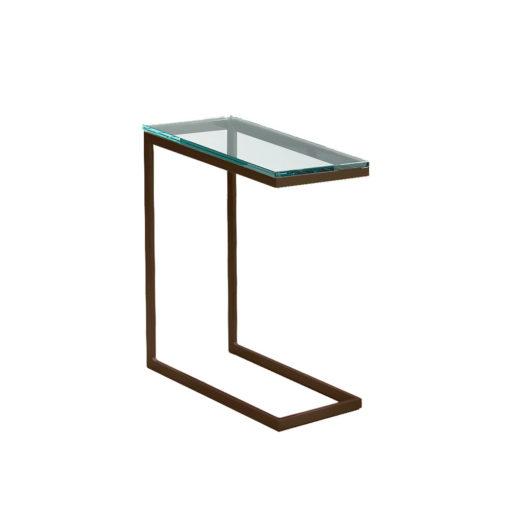Modulus cocktail arm table mocha/glass