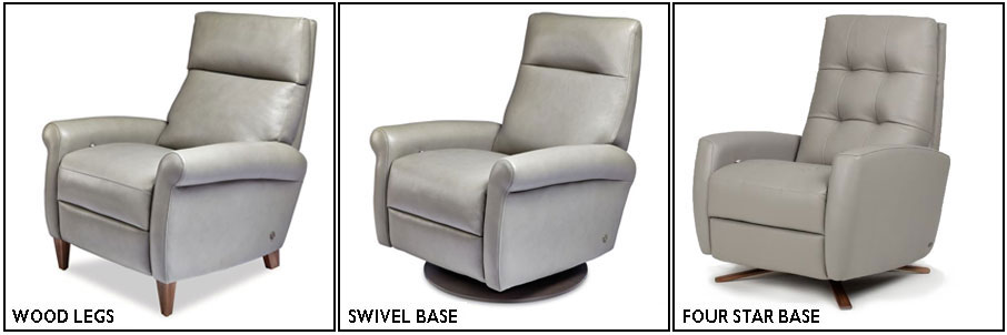 American Leather Comfort Recliner Manual vs Power and Swivel vs Legs at Creative Classics Furniture Alexandria VA