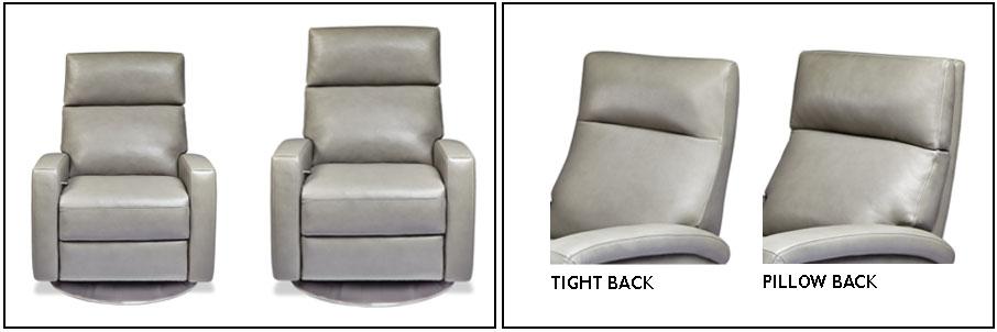 American Leather Comfort Recliner tight back versus pillow back at Creative Classics Furniture Alexandria VA