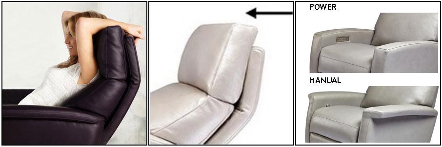 American Leather Comfort Recliner Adjustable Headrest at Creative Classics Furniture Alexandria VA