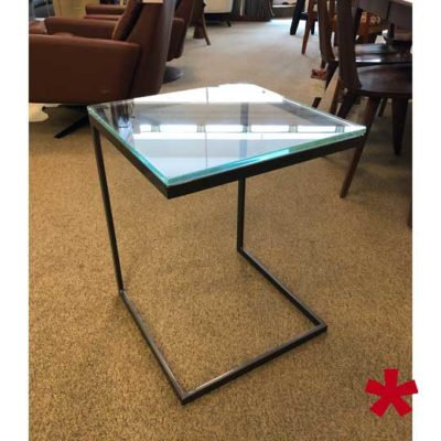 Modulus Accent Table - Glass Top